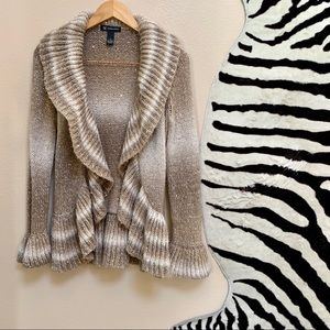 INC OPEN CARDIGAN SWEATER with long sleeves size S